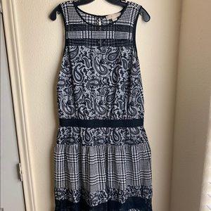 Mk paisley houndstooth dress